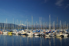 Boats on lake Geneva Stock Image