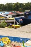 Boats on a Lake Stock Image