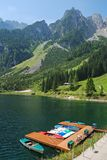 Boats on the lake at Gosau, Austria. In summer Stock Photography
