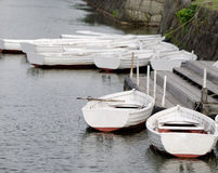 Boats on a lake in Hokkaido, Japan Royalty Free Stock Images