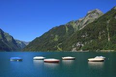 Boats on lake Klontal Royalty Free Stock Image