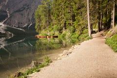 Boats at the lake Stock Image