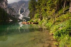 Boats at the lake Stock Photos