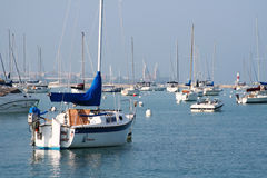 boats at Lake Michigan, Chicago Royalty Free Stock Photos