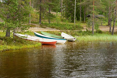 Boats on lake Royalty Free Stock Images