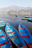 Boats on Lake, Pokhara, Nepal Stock Photos