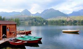 Boats on lake Stock Photo