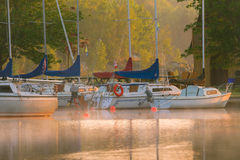 Boats on the lake Royalty Free Stock Photos