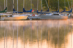 Boats on the lake Stock Photography