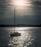 Boats. On a lake during sunset Royalty Free Stock Photography