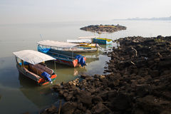 Boats at Lake Tana Stock Image