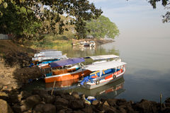 Boats at Lake Tana Stock Images