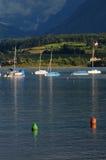 Boats on Lake Thun Royalty Free Stock Photos