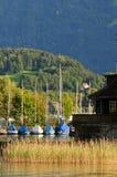 Boats on Lake Thun Royalty Free Stock Image
