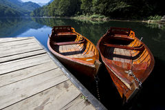 Boats on the lake Stock Images