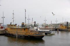 Boats on lake  Vesijarvi,  Lahti, Finland Royalty Free Stock Image