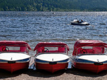 Boats at lakeside Royalty Free Stock Photo