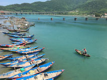 Boats in Lang Co, Hue, Vietnam Stock Images