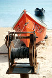 Boats laying on the shore Stock Photography