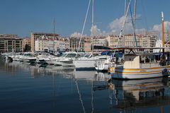 Boats in Le Vieux Port Royalty Free Stock Photos