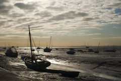 Boats at Leigh-on-Sea, Essex, England Royalty Free Stock Photos