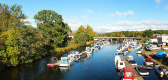 Boats on Leven River Royalty Free Stock Images