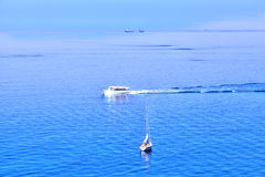 Boats at the Ligurian Coast of Italy Stock Image
