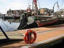 Boats in Limehouse Basin, London, England, UK Royalty Free Stock Photos