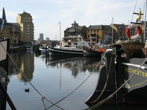 Boats in Limehouse Basin, London, England, UK Stock Photography