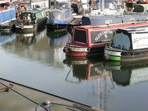 Boats in Limehouse Basin, London, England, UK Stock Photos
