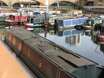 Boats in Limehouse Basin, London, England, UK Royalty Free Stock Image