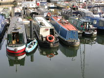 Boats in Limehouse Basin, London, England, UK Royalty Free Stock Images