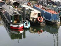 Boats in Limehouse Basin, London, England, UK Royalty Free Stock Photo