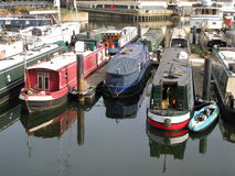 Boats in Limehouse Basin, London, England, UK Royalty Free Stock Photography