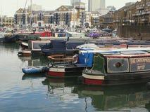 Boats in Limehouse Basin, London, UK Stock Photos