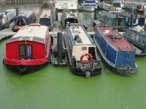 Boats in Limehouse Basin, London, UK Stock Image