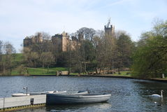 Boats at Linlithgow Loch Stock Image