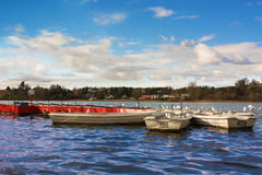 Boats at Linlithgow Loch Stock Images