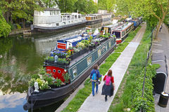 Boats in Little Venice, London Royalty Free Stock Image