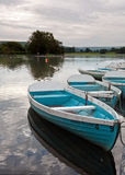 Boats on Llangorse Lake Stock Image