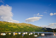 Boats on Loch Lomond, Scotland Stock Photography