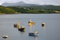 Boats on Loch Portree Royalty Free Stock Photos
