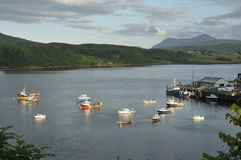 Boats on Loch Portree Stock Images