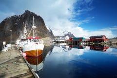 Boats, Lofoten islands Royalty Free Stock Photos