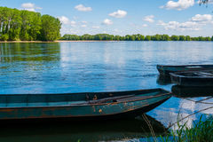 Boats on the Loire Stock Photos
