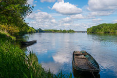 Boats on the Loire Royalty Free Stock Photos