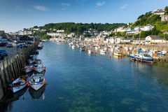 Boats on Looe river Cornwall Stock Image