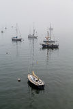 Boats Lost in Fog Royalty Free Stock Image