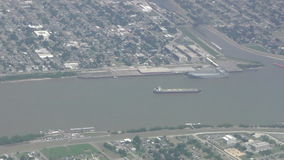 Boats in Louisiana aerial view stock video