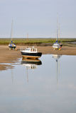 Boats at low tide Royalty Free Stock Images